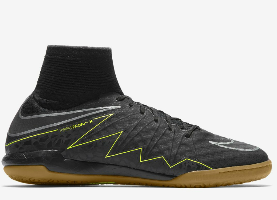 1b1bc0a35 Nike HypervenomX Proximo II IC - Black   Volt   Gum Light Brown   Black