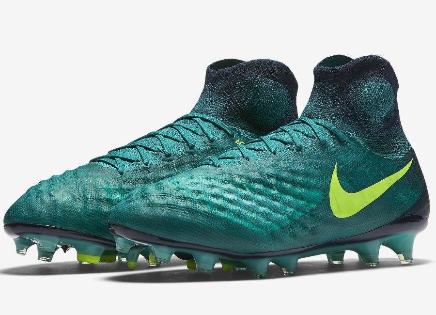 9124e103386 Nike Magista Obra Ii Fg Floodlights Pack Rio Teal Obsidian Clear Jade Volt
