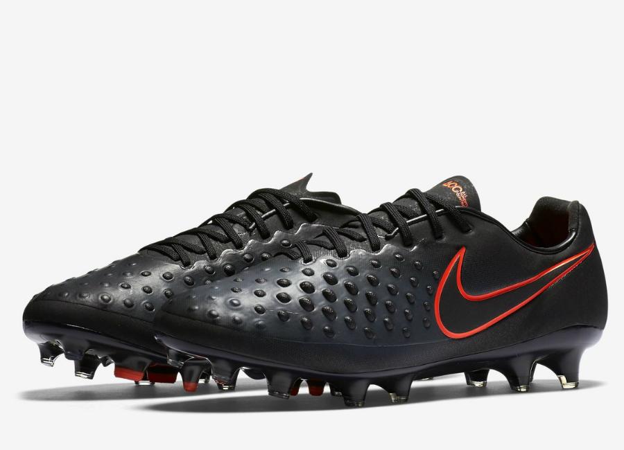 Nike Magista Opus II Football Boot - Black / Black / Total ...