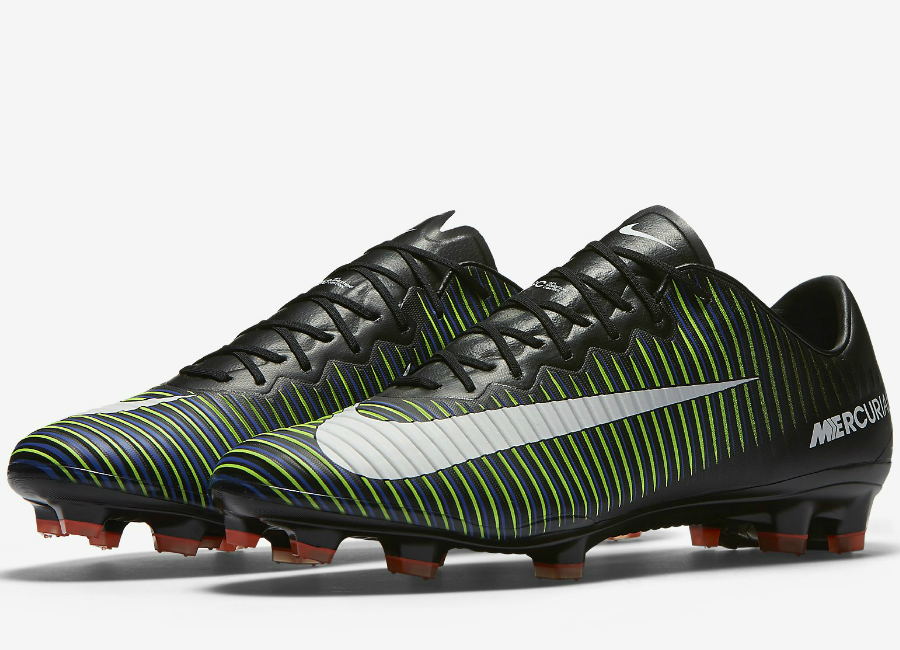 nike mercurial vapor black and green and blue