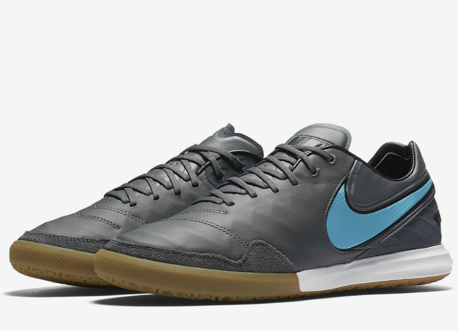 Nike TiempoX Proximo IC - Dark Grey   Gum Light Brown   White   Polarised  Blue 1bbb44d3f