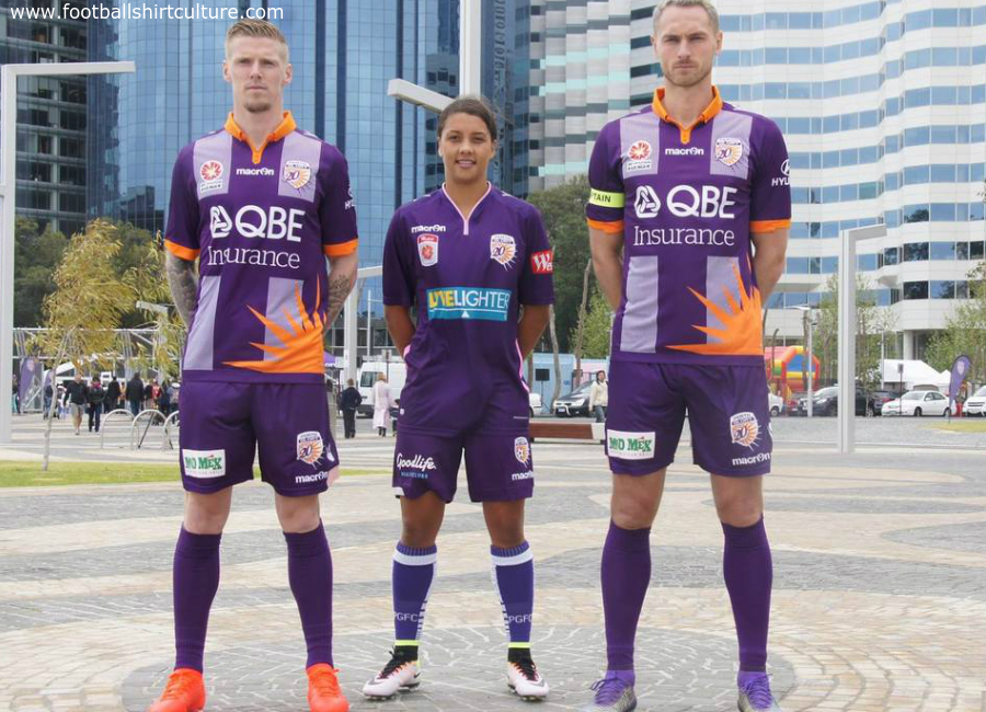 Perth Glory 2016 2017 Macron Heritage Kit