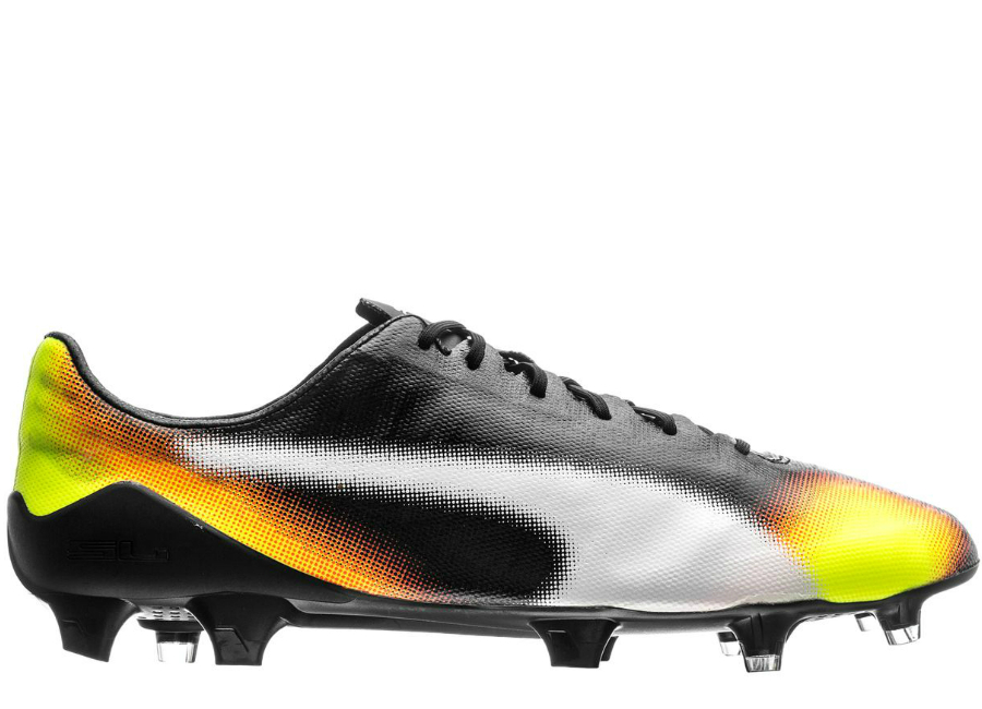 Puma Evospeed Sl Ii Graphic Fg Black White Safety Yellow Orange