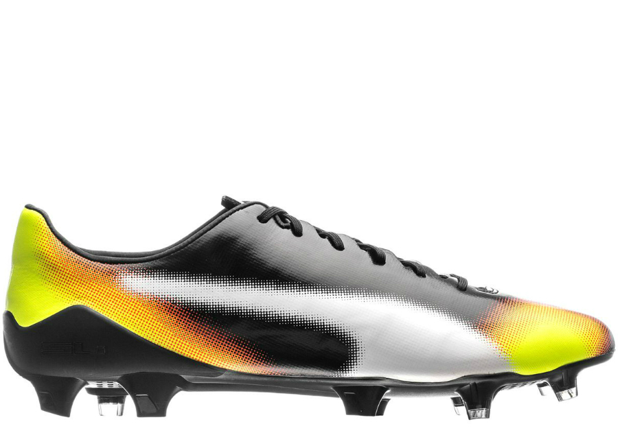 Puma Evospeed Sl S Ii Graphic Fg Black White Safety Yellow Orange