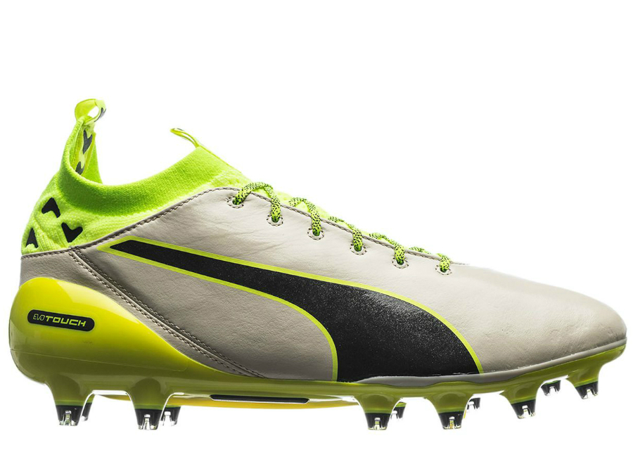 Puma Evotouch Pro Fg Birch Peacoat Safety Yellow