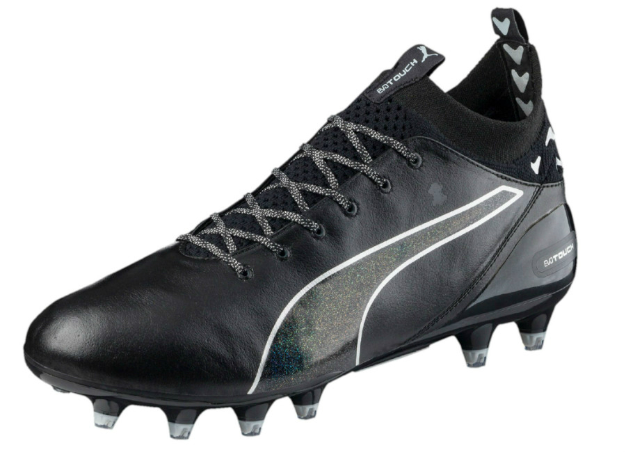 all black puma football boots