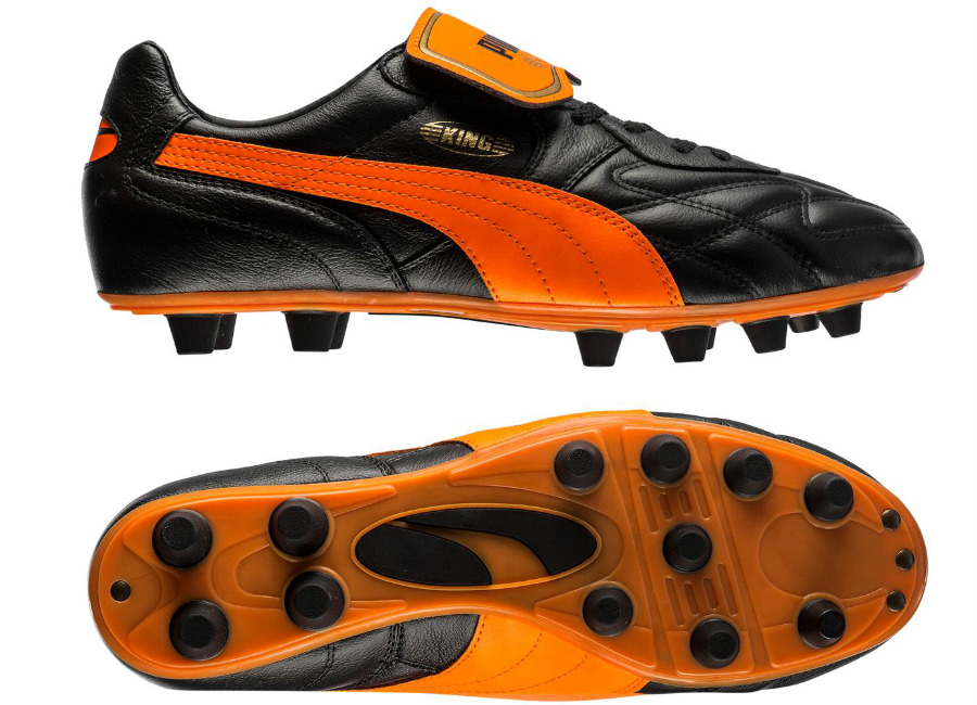 Puma King Top Made In Italy Black Orange