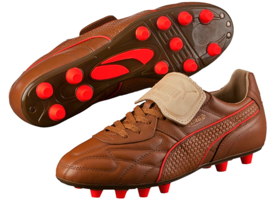Puma King Top M.I.I Naturale FG Football Boots - Brown   Red Blast ... bd82acadf