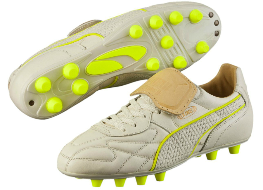 Puma King Top Mii Naturale Fg Football Boots White Safety Yellow