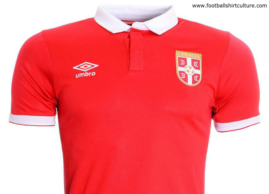 Serbia 2016 2017 Umbro Home Football Shirt