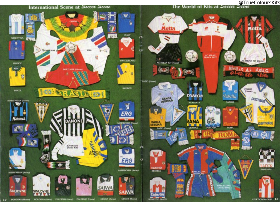 Soccer Scene Catalogue 1993 94