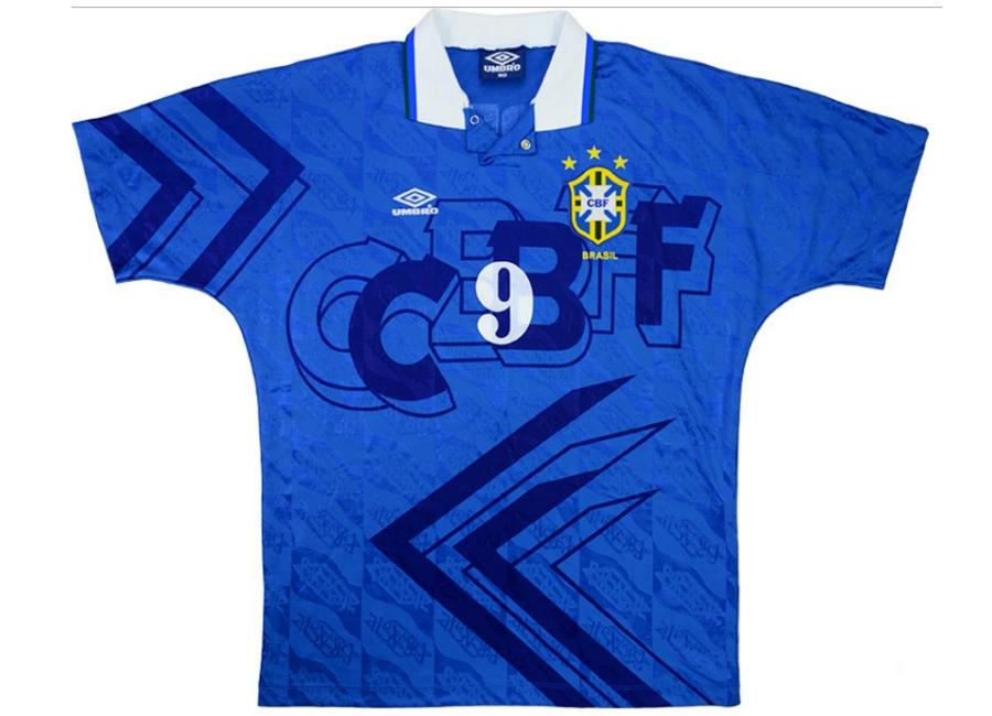 14da9b72d Umbro 1993 Brazil Match Worn US Cup Away Shirt