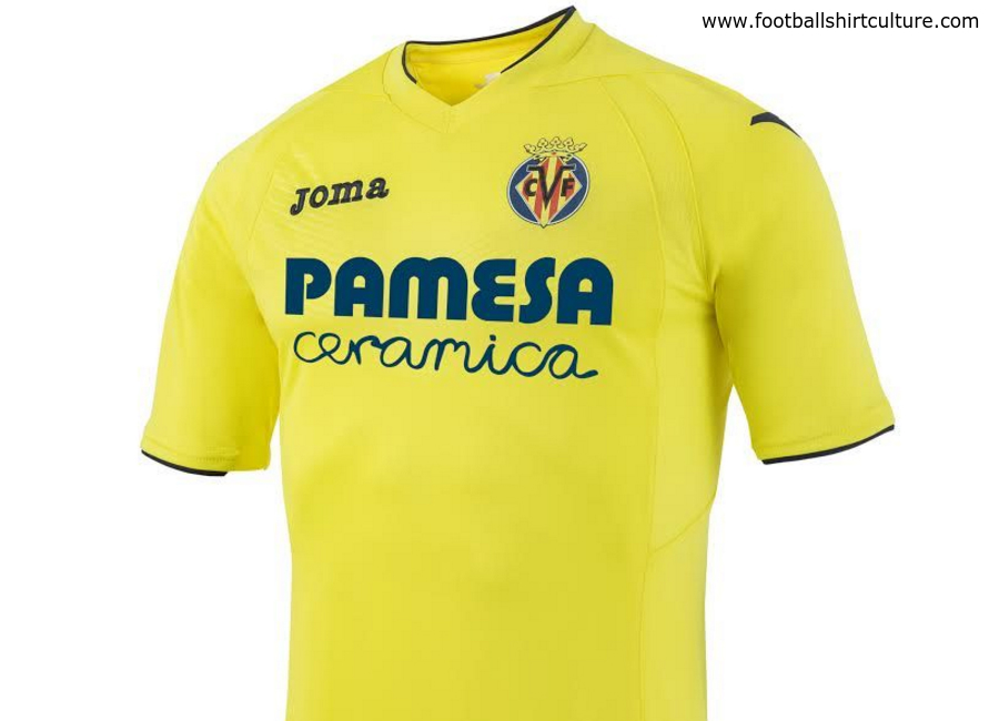 Villarreal 2016 2017 Joma Home Shirt