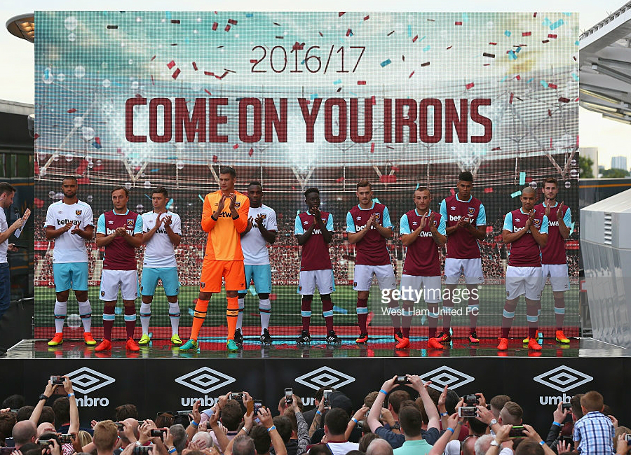 West Ham United 2016/17 Home Kit Launch Event