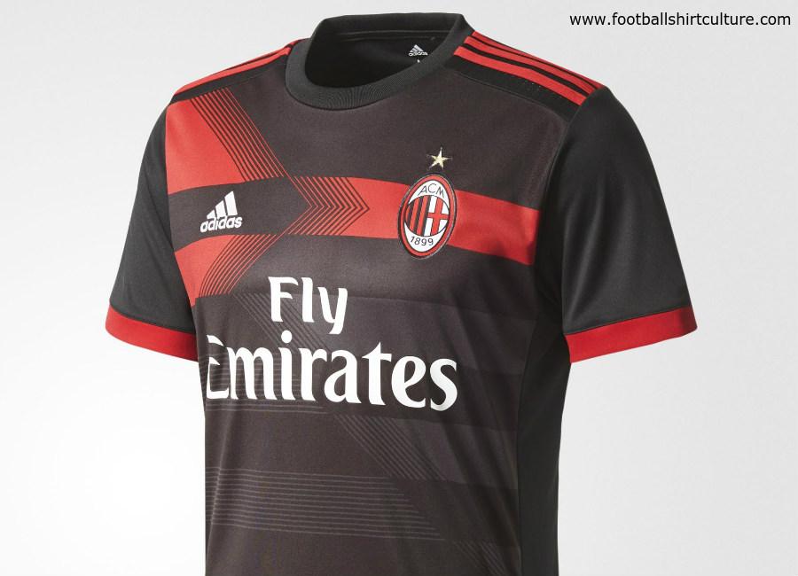purchase cheap 74f5a 16753 AC Milan 17/18 Adidas Third Kit | 17/18 Kits | Football ...