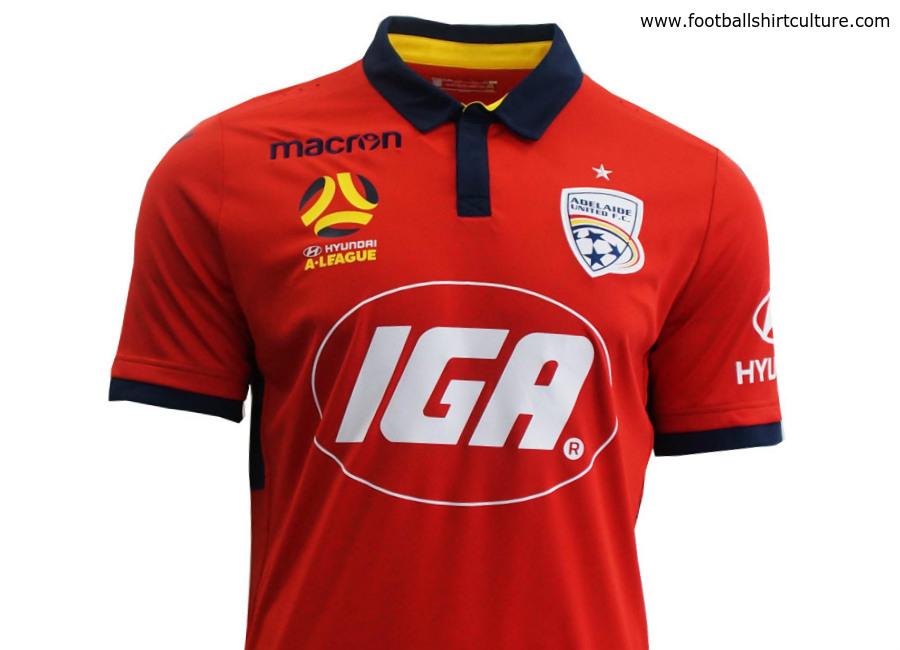 Adelaide United 17 18 Macron Home Kit 17 18 Kits