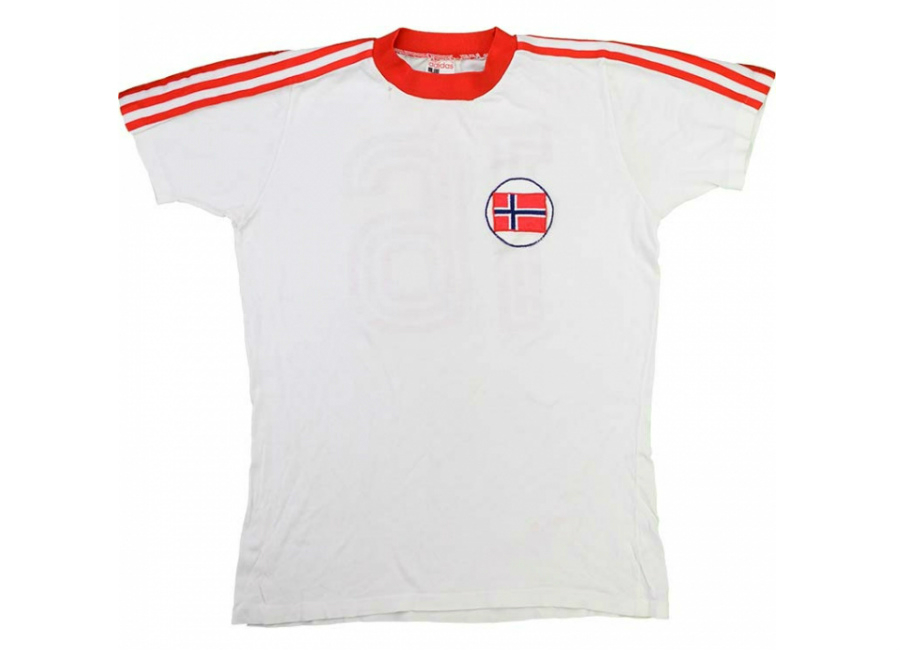 Adidas 1978 79 Norway Match Issue Away Shirt