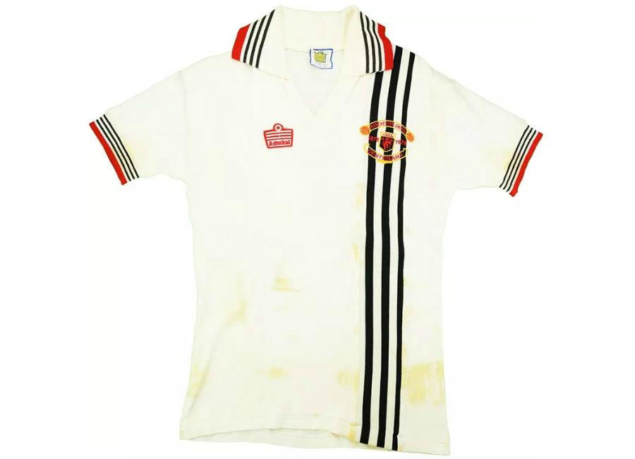 Admiral 1978-80 Manchester United Match Worn Centenary Away Shirt 2994343bd