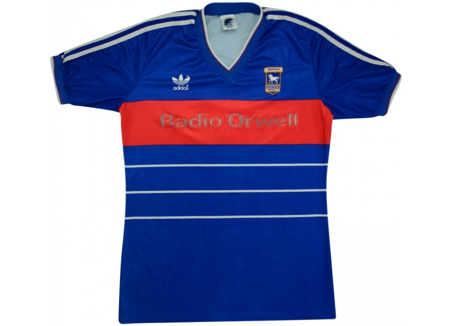 Adidas 1985 86 Ipswich Town Match Issue Home Shirt