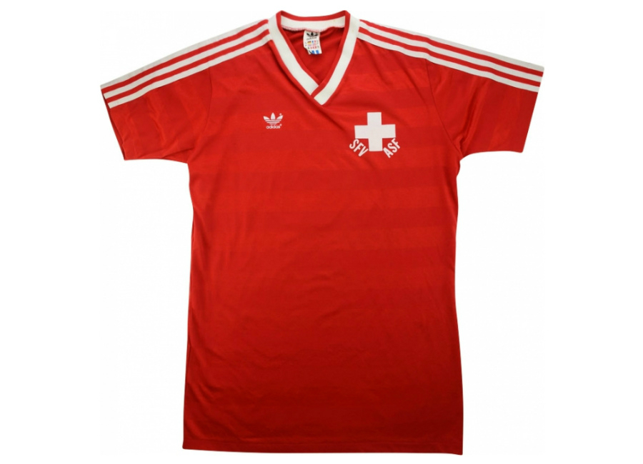 Adidas 1985 Switzerland Match Worn Home Shirt Koller