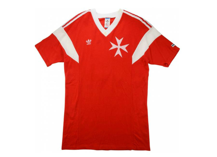 Adidas 1989 Malta Match Issue Home Shirt Suda