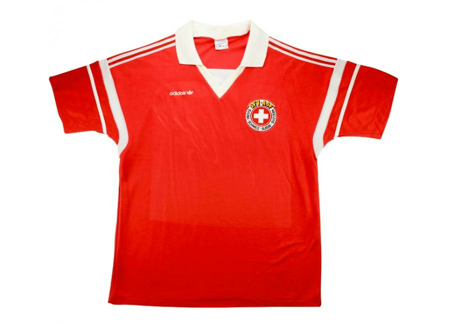 Adidas 1989 Switzerland Match Issue Home Shirt