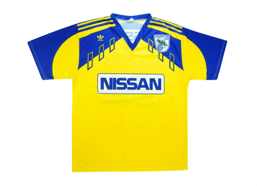 Adidas 1990 92 Grasshoppers Match Issue Away Shirt