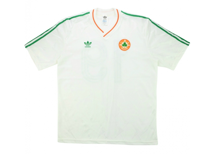 Adidas 1990 Ireland Match Issue World Cup Away Shirt Kelly