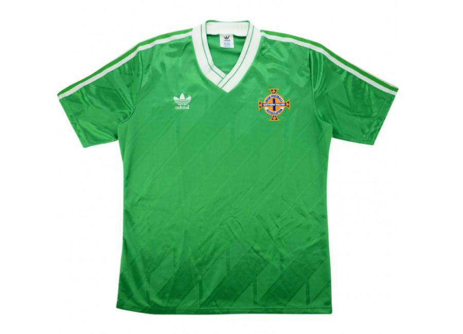 Adidas 1990 Northern Ireland U 23 Match Worn Home Shirt