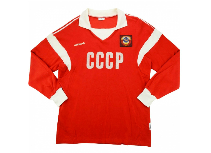 Adidas 1990 Soviet Union U 21 Match Worn Toulon Tournament Home Shirt
