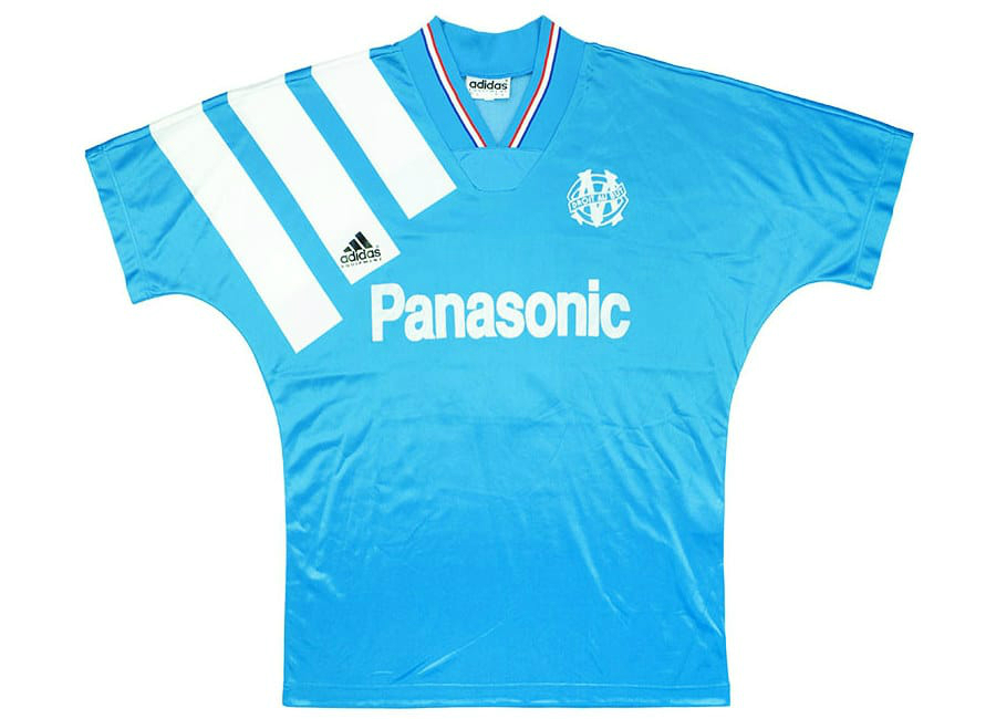 91ea71e0be4 Adidas 1991-92 Olympique Marseille Match Issue Away Shirt