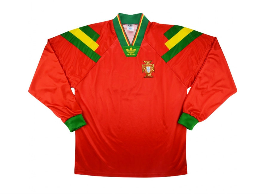 Adidas 1992 Portugal Match Issue Home Shirt