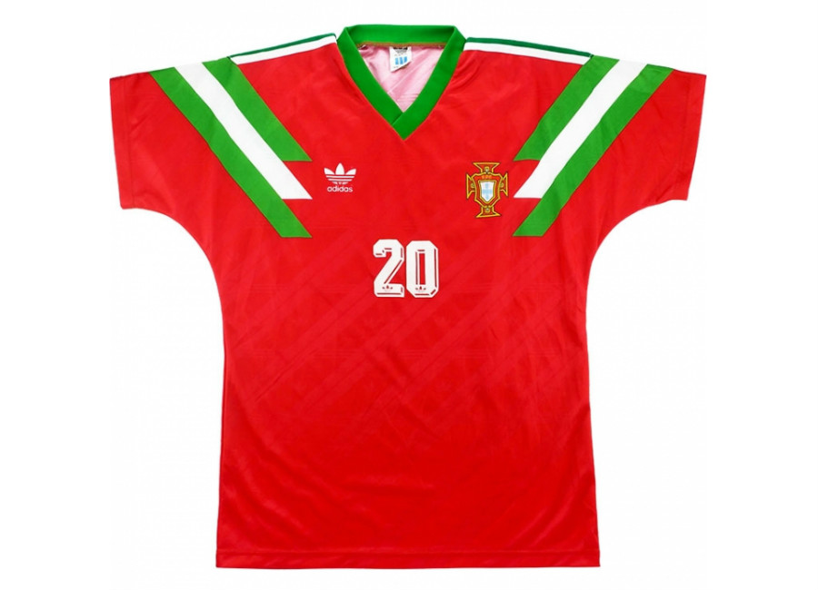 Adidas 1992 Portugal Match Worn US Cup Home Shirt