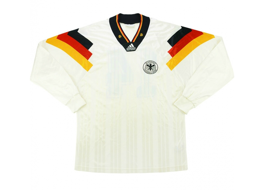 Adidas 1993 Germany Match Worn Home Shirt Haler
