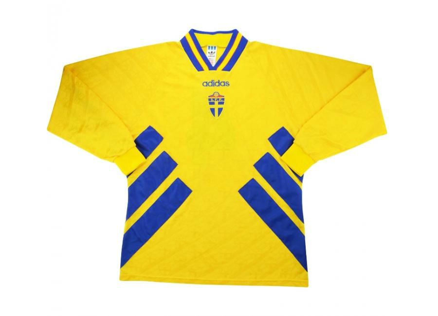 Adidas 1994 Sweden Match Worn Home Shirt Bjorklund