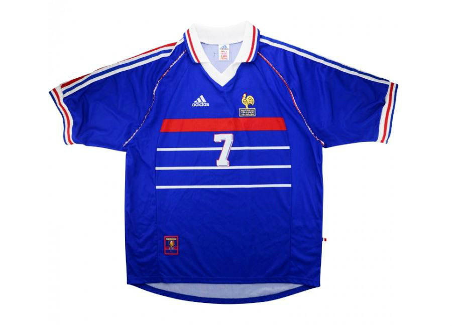 Adidas 1998 France Match Worn Home Shirt Deschamps