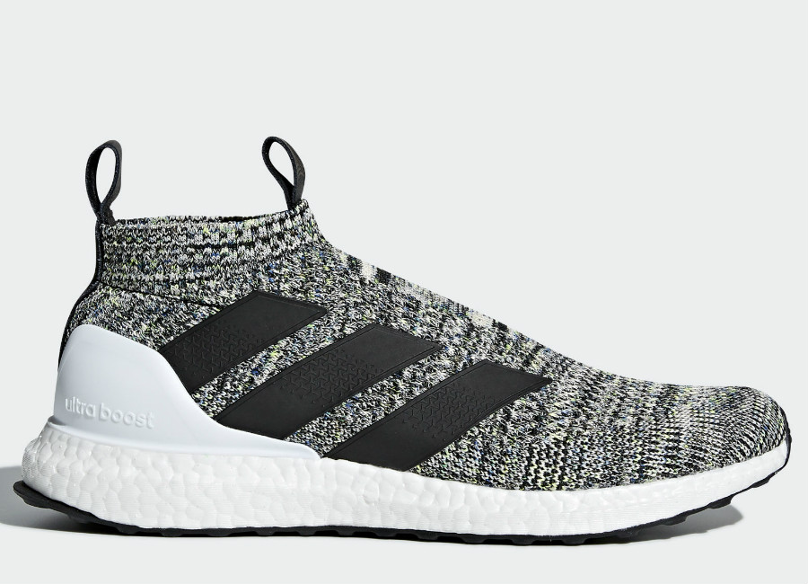 Adidas A 16+ Ultraboost Shoes - Off White / Core Black / Solar Yellow