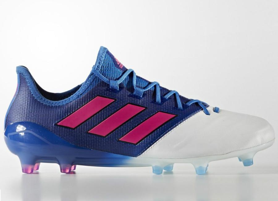 Adidas Ace 17 1 Leather Firm Ground Boots Blue Blast Blue Shock Pink Footwear White