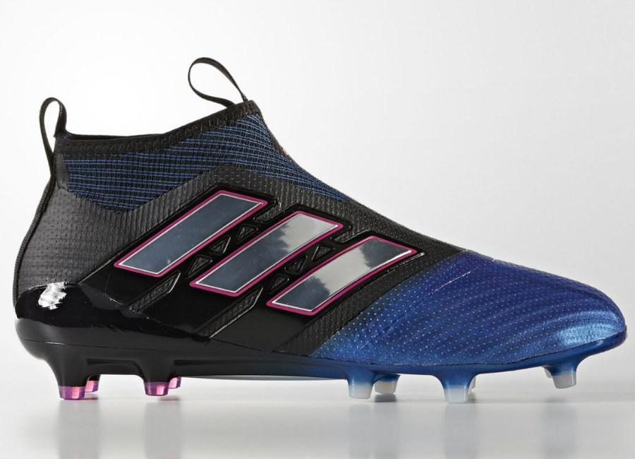Adidas Ace 17 Purecontrol Firm Ground Boots Core Black Footwear White Blue
