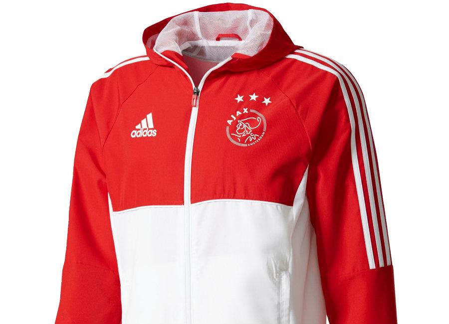 f586d6c55b1 Adidas Ajax Training Presentation Jacket - White / Bold Red ...