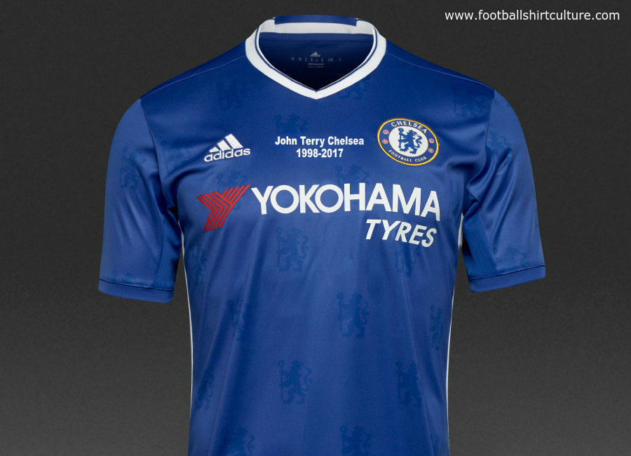 Adidas Chelsea 16 17 Home Commemorative John Terry Shirt