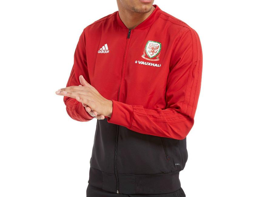 Adidas FA Wales 2018 Presentation Jacket - Red / Black