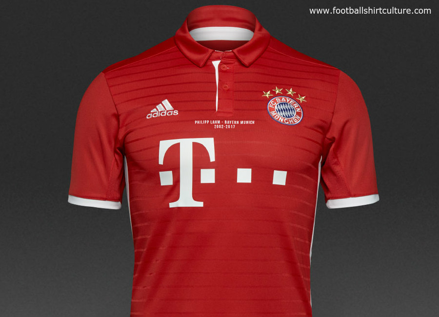 Adidas Fc Bayern 16 17 Home Commemorative Philipp Lahm Shirt