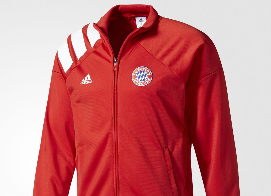 4b57f5b10 Adidas FC Bayern Munich Track Jacket - Fcb True Red / White ...