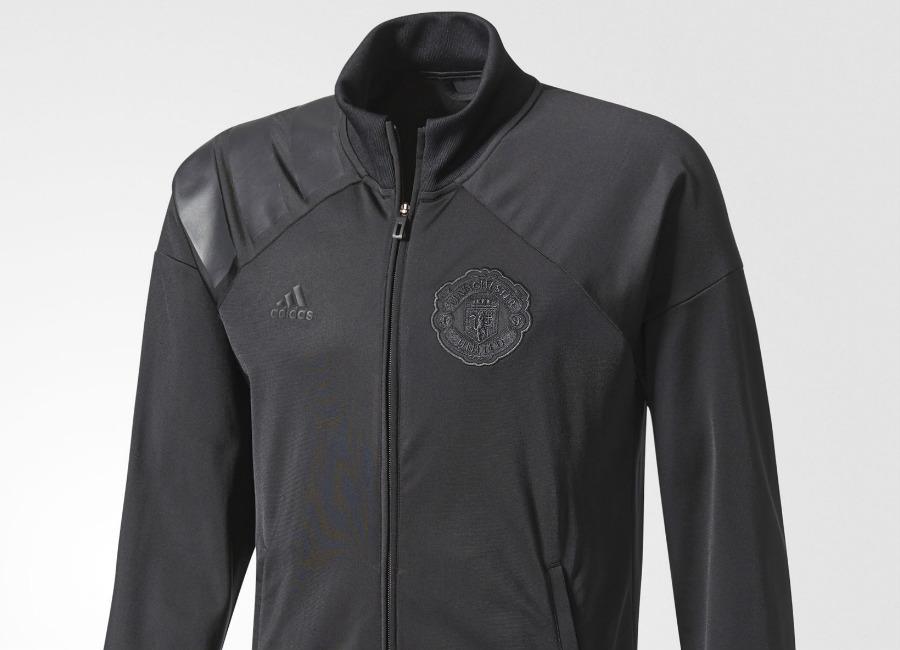 Adidas Manchester United Track Jacket Black Equipment