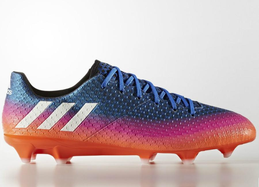 Adidas Messi 16 1 Firm Ground Boots Blue Blast Blue Footwear White Solar Orange