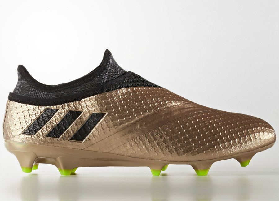 Adidas Messi 16 Pureagility Turbocharge Firm Ground Boots Copper Metallic Core Black Solar Green