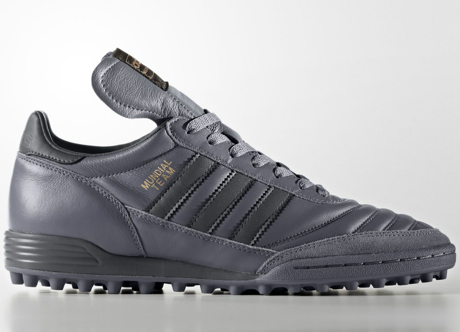 78ded74ddafc Adidas Mundial Team Boots - Clear Grey / Mid Grey / Copper Metallic. A  classic leather football boot designed for artificial turf.