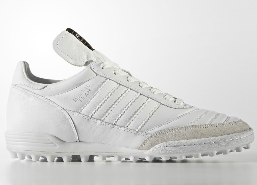 dfb227070e5b Adidas Mundial Team Boots - Footwear White / Tech Silver Metallic. A  classic leather football boot designed for artificial turf.