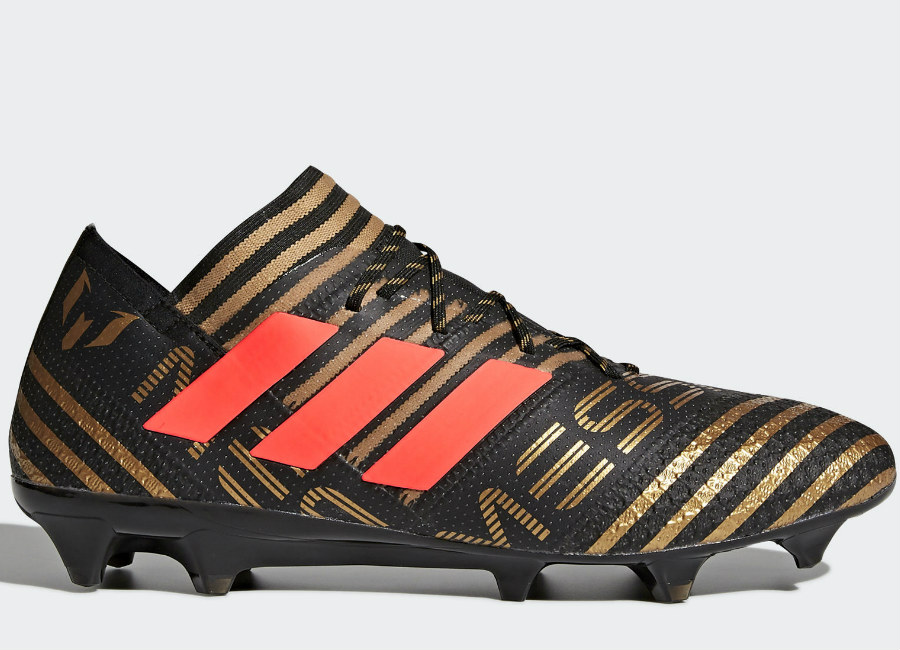 Adidas Nemeziz Messi 17.1 FG - Core Black / Solar Red / Tactile Gold Met